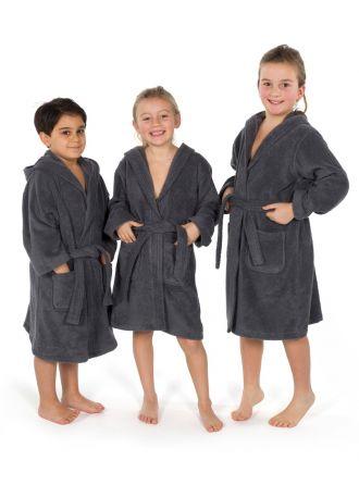 Linum Kids Hooded Unisex Terry Bathrobe