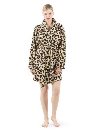 Super Plush Luxurious Soft Leopard Print Bathrobe