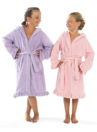 Linum Kids Hooded Terry Bathrobe for Girls