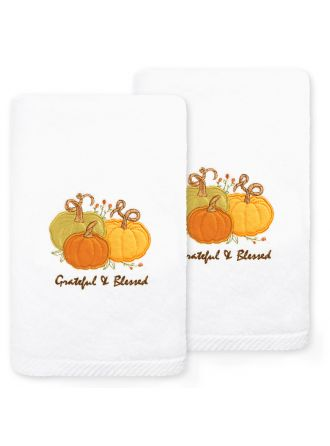 Grateful & Blessed Embroidered Towel