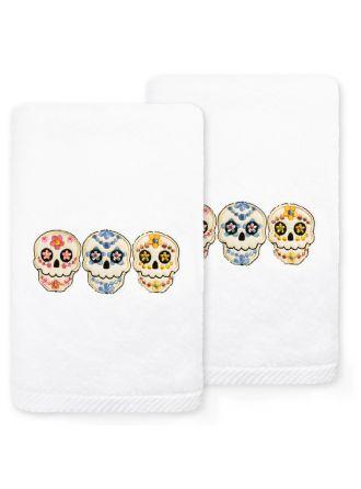 Skulls Embroidered Towel